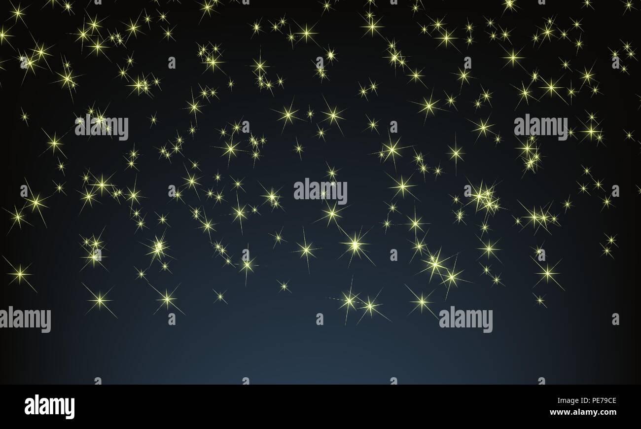 Stella Stellina Di Natale.Vettore Di Notte Con Il Cielo Pieno Di Stelle Stella Stellina Per