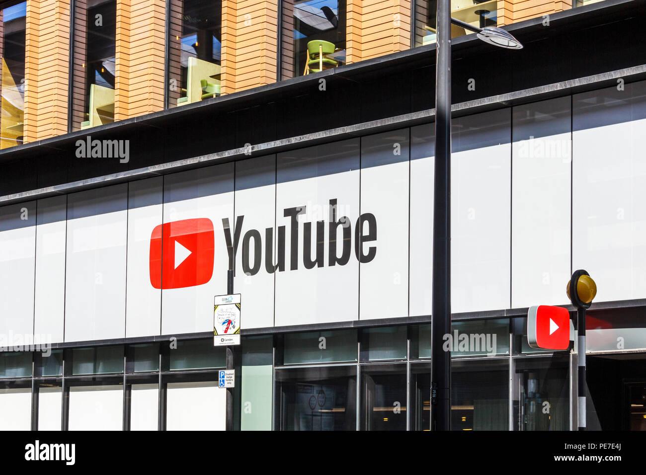 Il YouTube spazio in costruzione Pancras Road, King's Cross, London, Regno Unito Immagini Stock