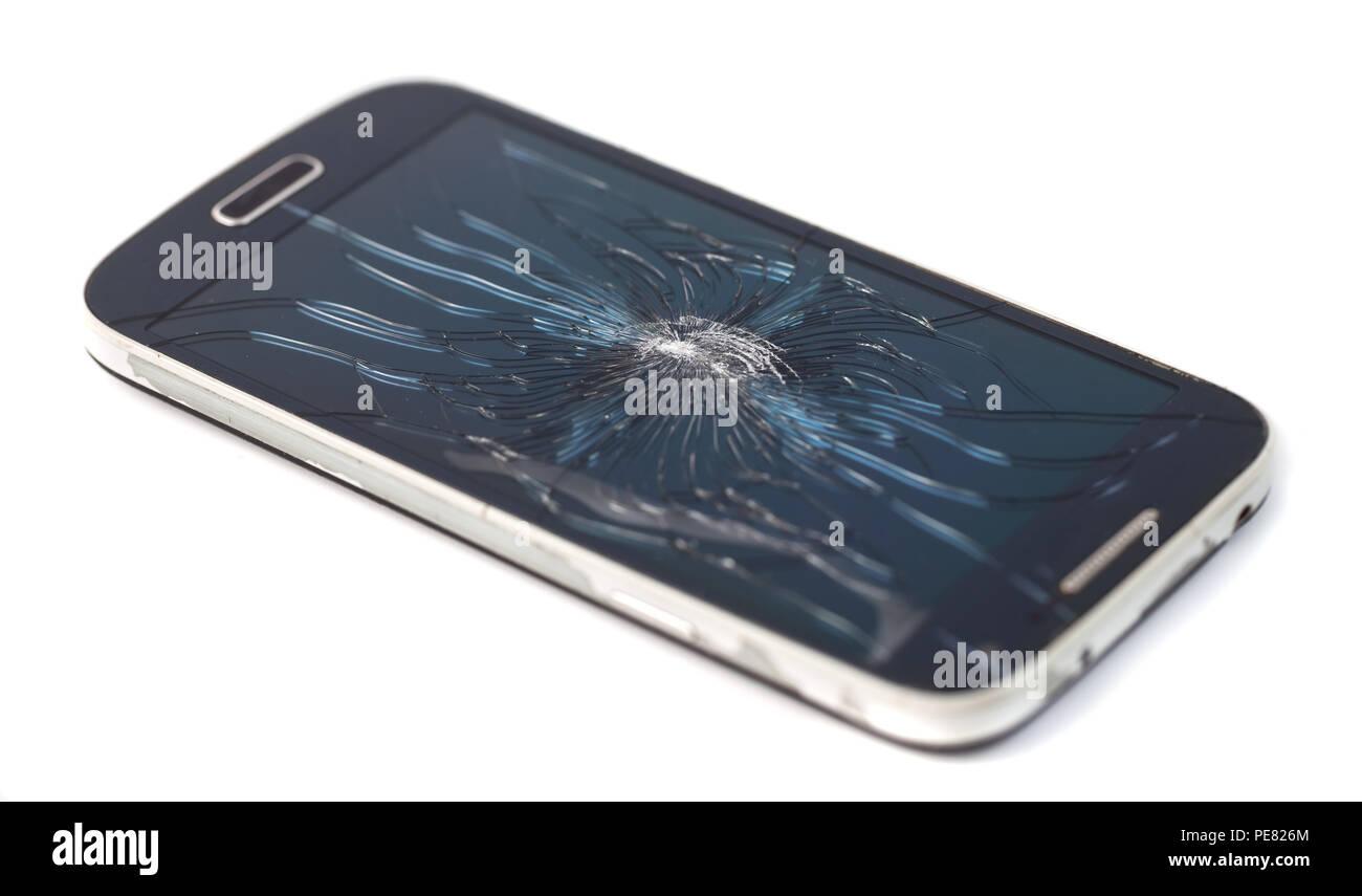 Vector Illustration Broken Mobile Smartphone Immagini Vector