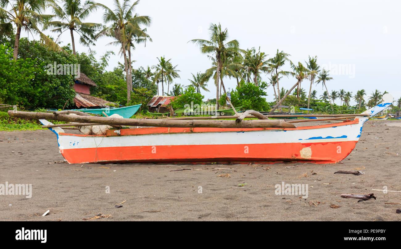 Sakayan tradizionale barca da pesca nelle Filippine Immagini Stock