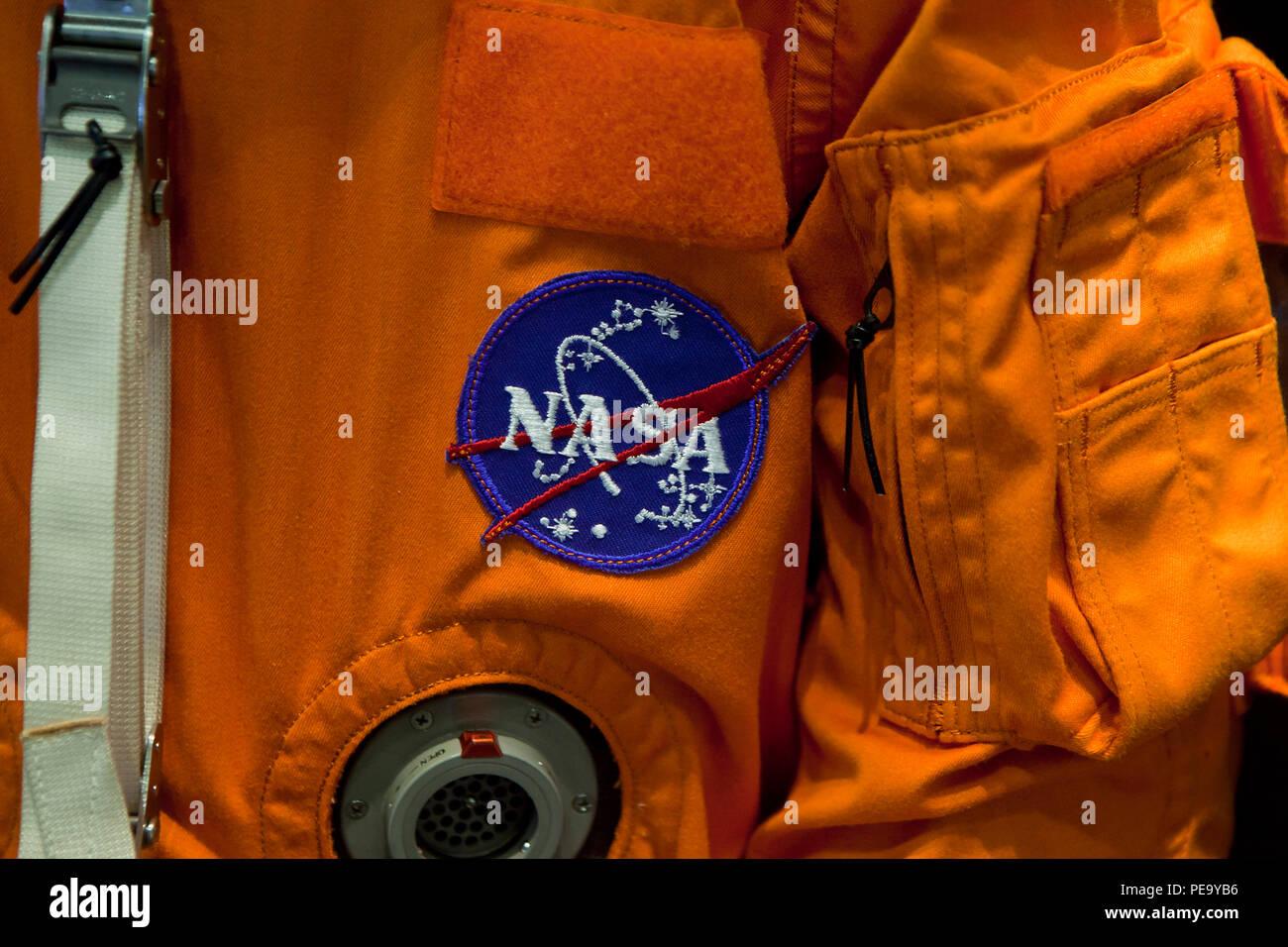 La NASA patch su Advanced equipaggio tuta Escape (ACE, zucca suit) - USA Immagini Stock