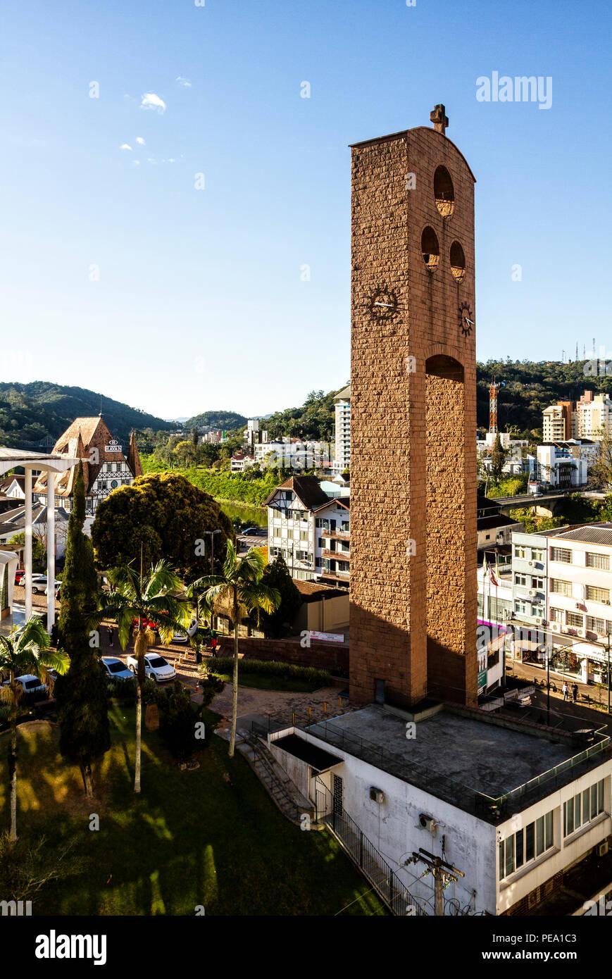Sao Paulo Apostolo Cattedrale. Blumenau, Santa Catarina, Brasile. Immagini Stock