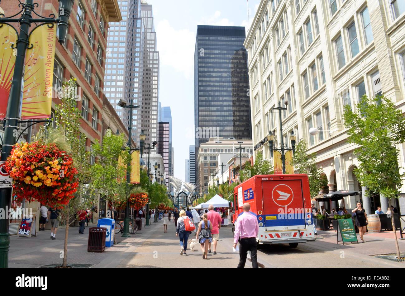 Centro di Calgary, Alberta Canada Immagini Stock