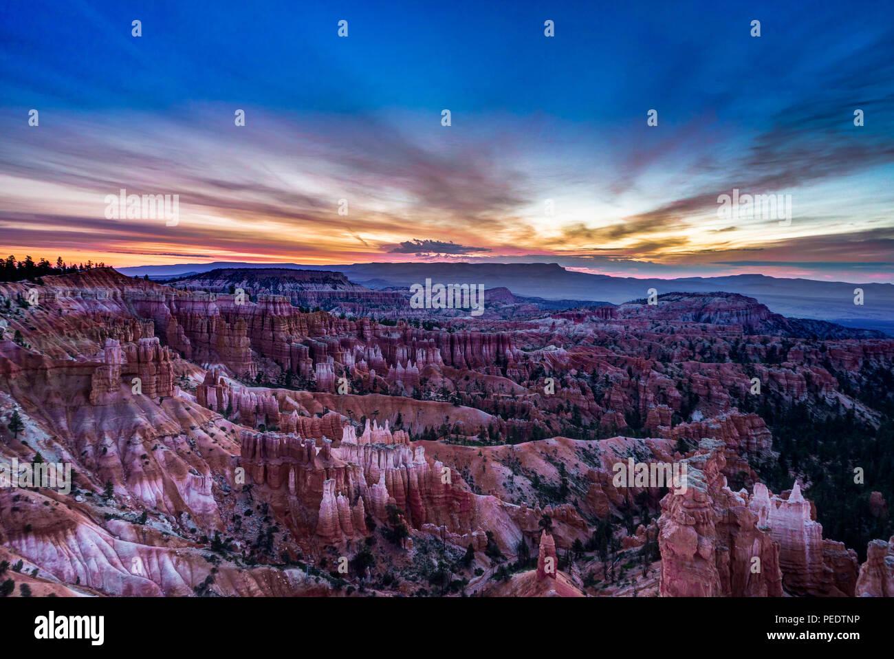 Foto scattata a Bryce Canyon dello Utah Stati Uniti d'America. Immagini Stock