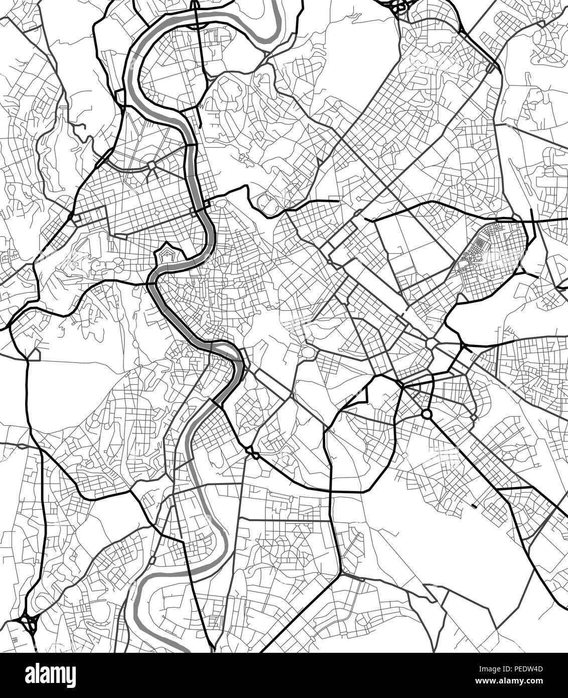 Cartina D Roma.Cartina Roma Bianco E Nero