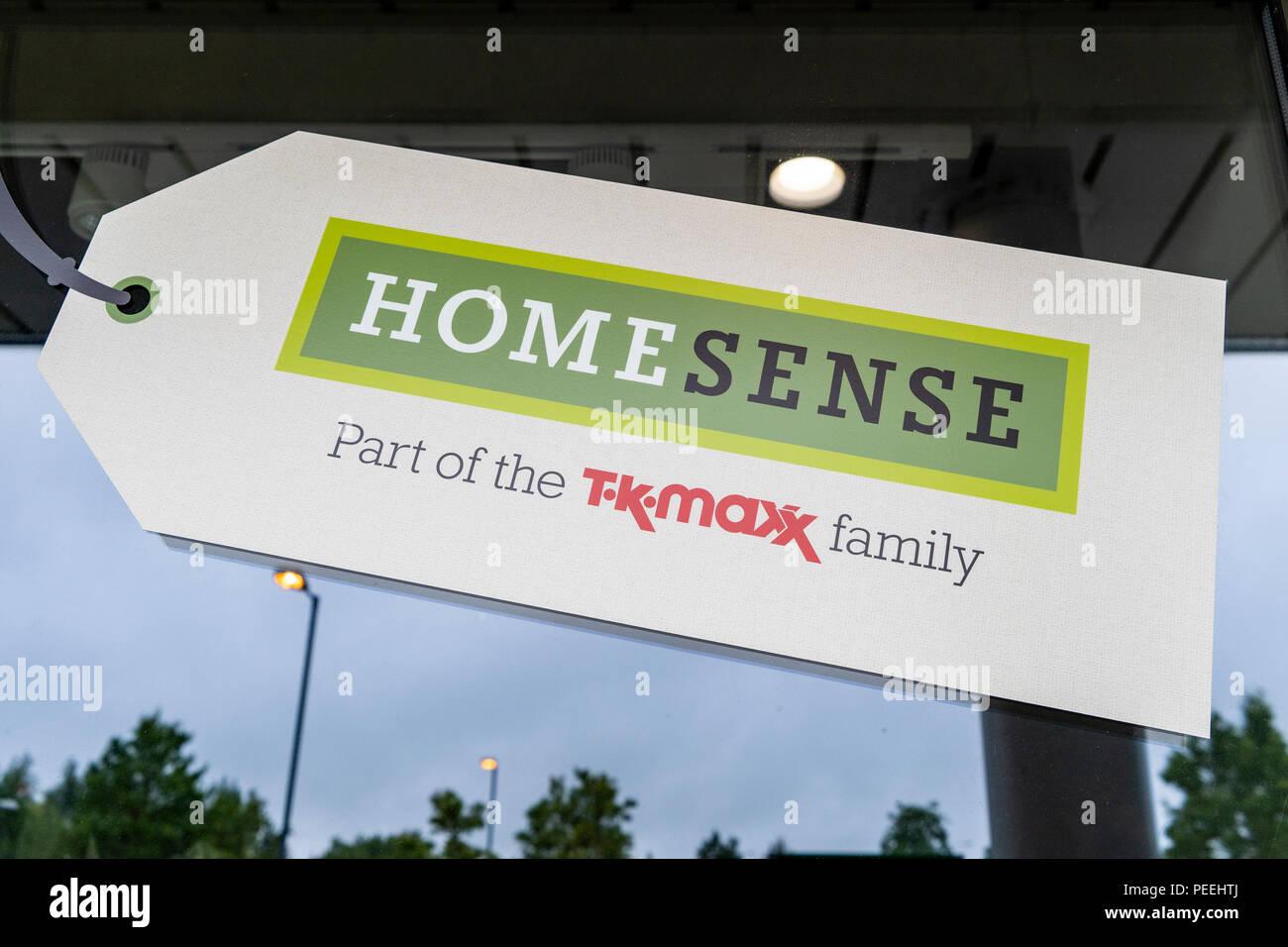 Home senso shop parte di T K Maxx gruppo Immagini Stock