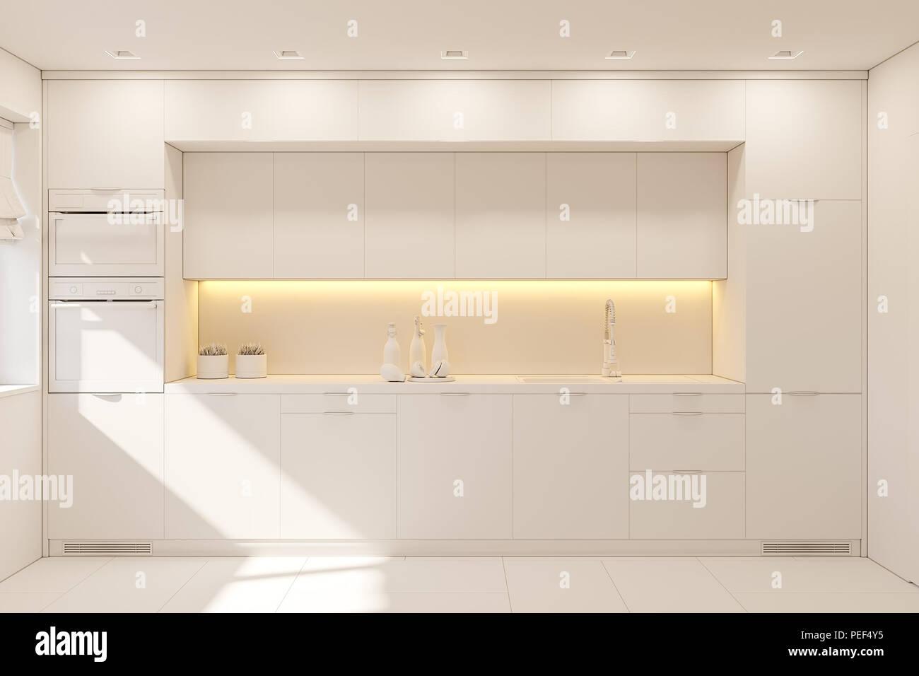 Arredamento Stile Nordico Moderno.Cucina Arredamento Di Colore Bianco Studio Moderno Appartamento