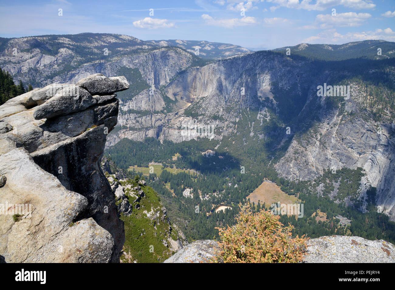 Il parco nazionale di Yosemite Valley punto di visualizzazione, Yosemite National Park, California, Stati Uniti d'America Immagini Stock