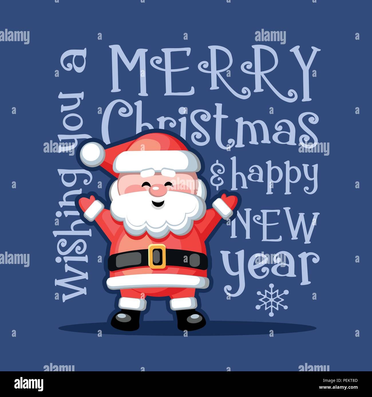 Foto Divertenti Di Buon Natale.Buon Natale E Felice Anno Nuovo Biglietto Di Auguri Divertente Con
