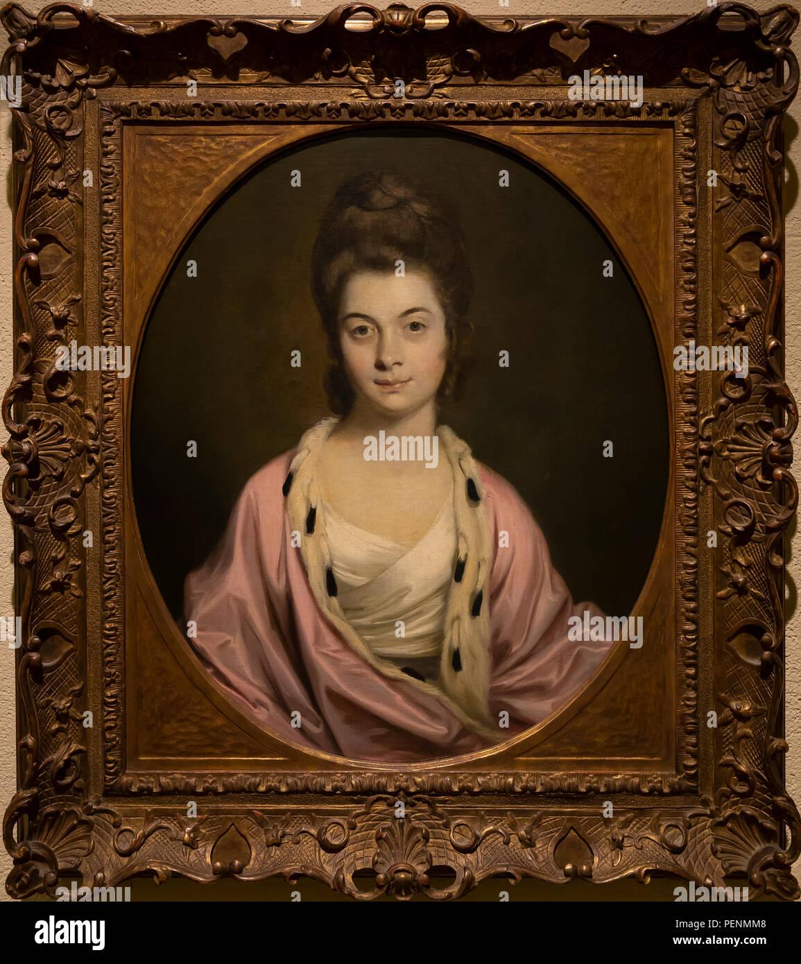 La sig.ra Thomas Watkinson Payler, Joshua Reynolds, 1771, Indianapolis Museum of Art, Indianapolis, Indiana, Stati Uniti d'America, America del Nord Immagini Stock