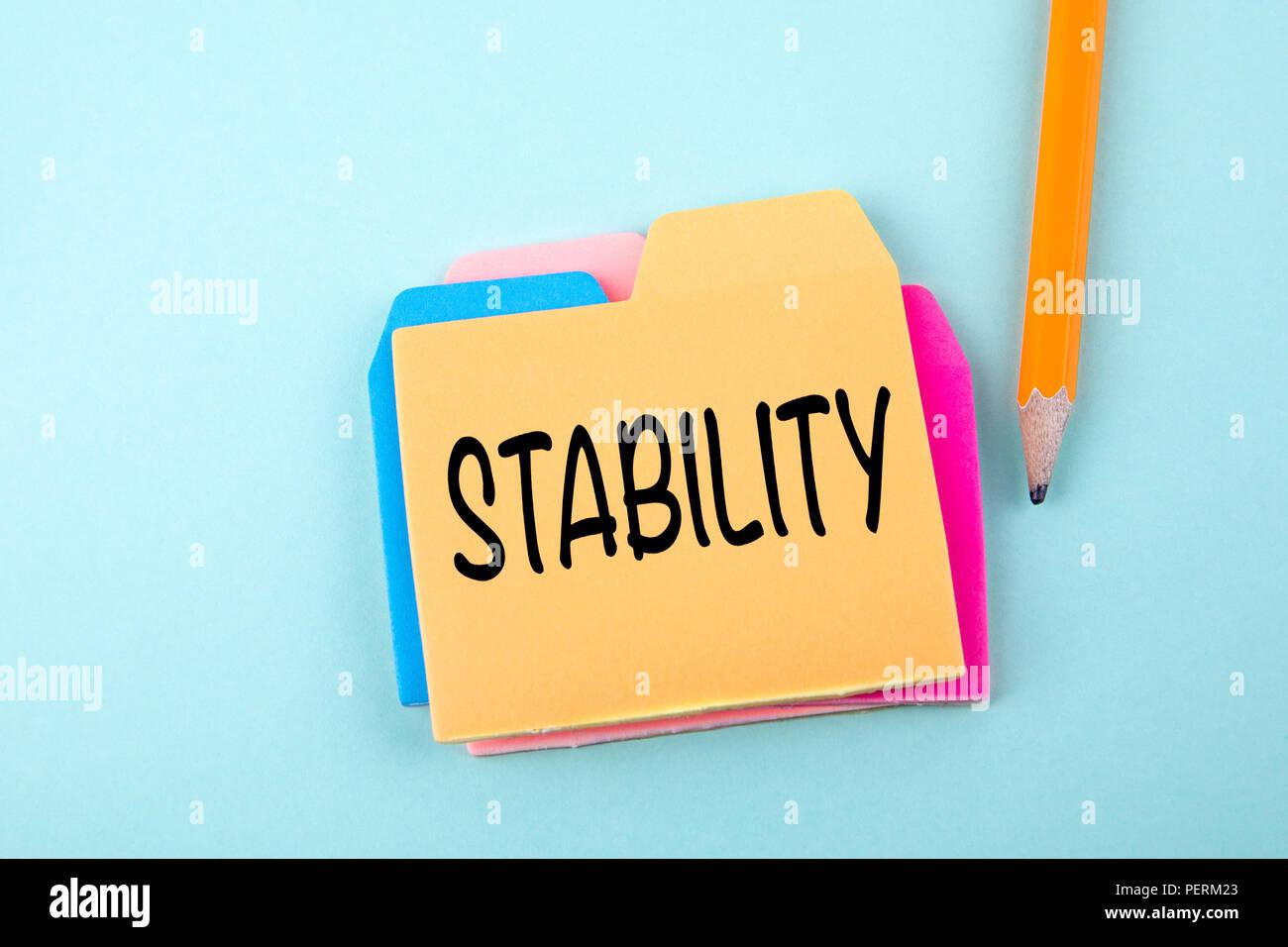 La stabilità, la concezione di business Foto Stock