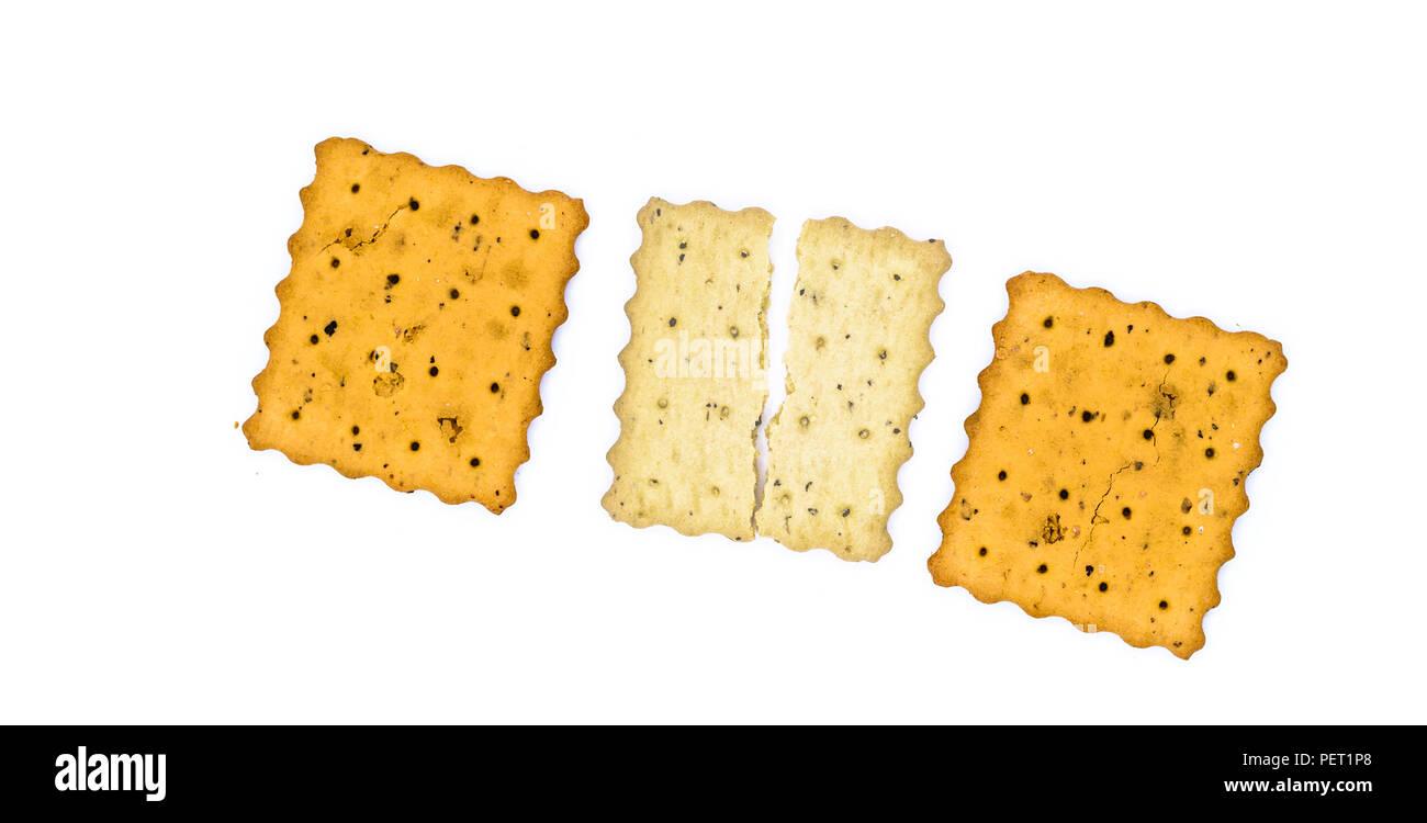 Concetto con il cracker Immagini Stock