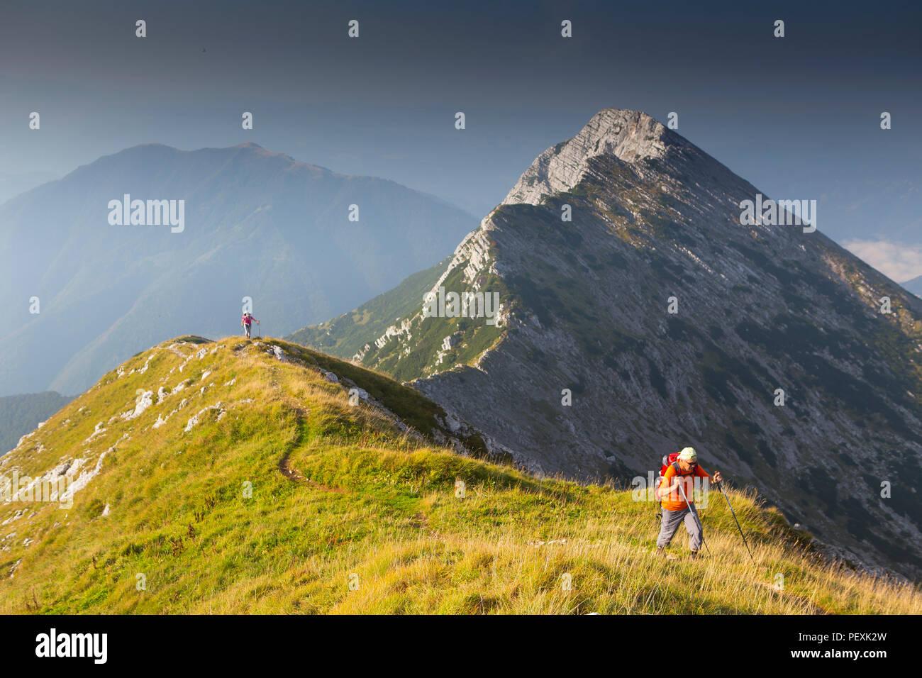 Il monte Vogel, il Parco Nazionale del Triglav, Slovenia Immagini Stock