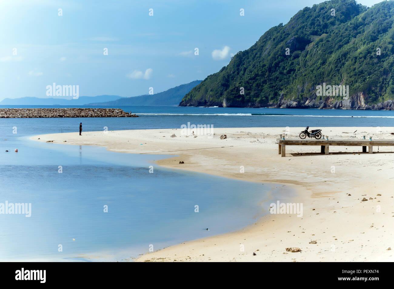 Vista della spiaggia, Banda Aceh e Sumatra, Indonesia Immagini Stock