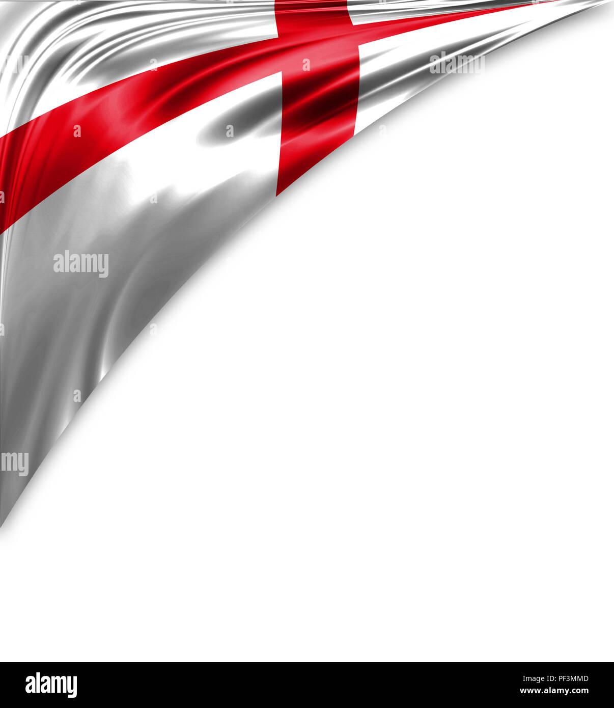 Inghilterra Bandiera Di Seta Con Copyspace Per Il Testo O Le