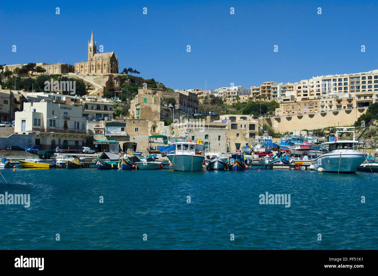 Gozo Mġarr Harbour, Gozo Malta Immagini Stock
