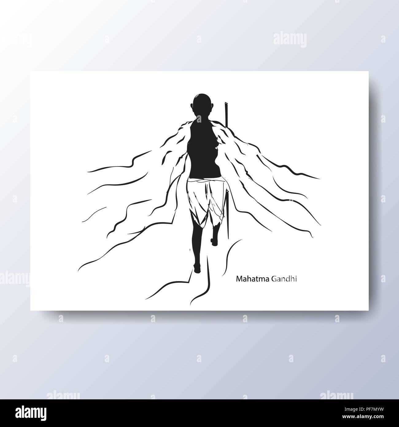 Il Mahatma Gandhi illustrazione Immagini Stock