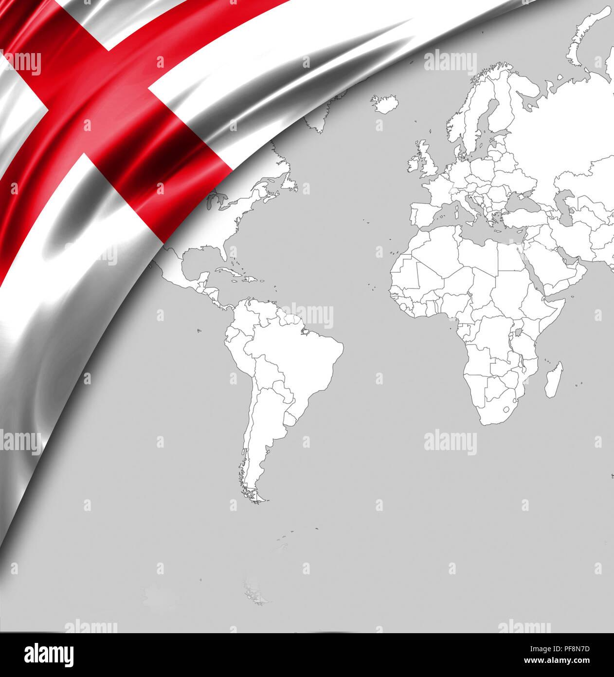 Bandiera Dellinghilterra Con Un Posto Per Il Vostro Testo Sullo