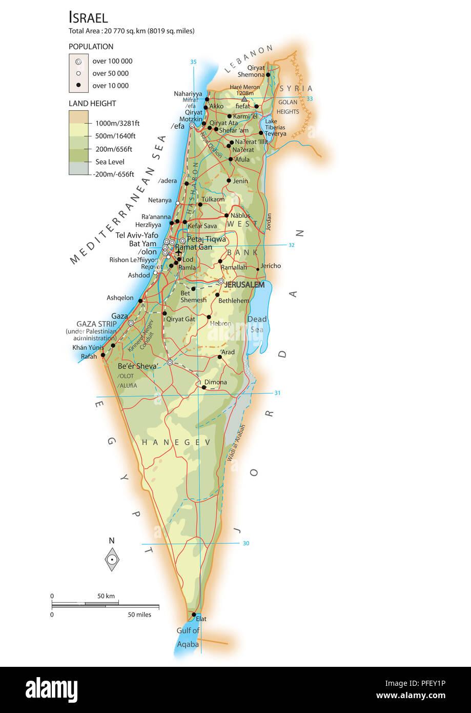 Cartina Fisica Dell Israele.Mappa Di Israele Foto Stock Alamy