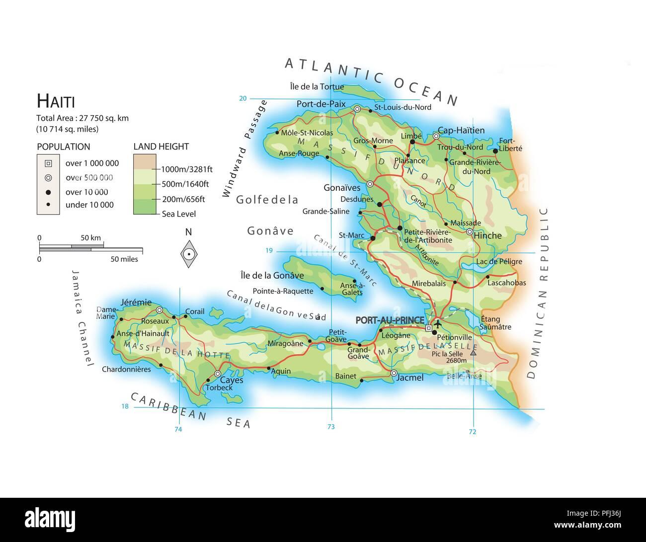 Cartina Geografica Haiti.Mappa Di Haiti Foto Stock Alamy