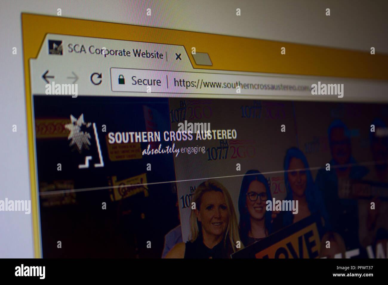 La Croce del Sud Austereo Website Homepage Immagini Stock