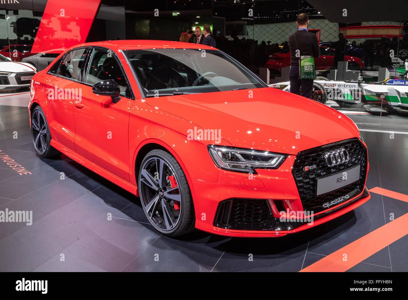 Ginevra Svizzera 6 Marzo 2018 Audi Rs3 Sportback Quattro Auto
