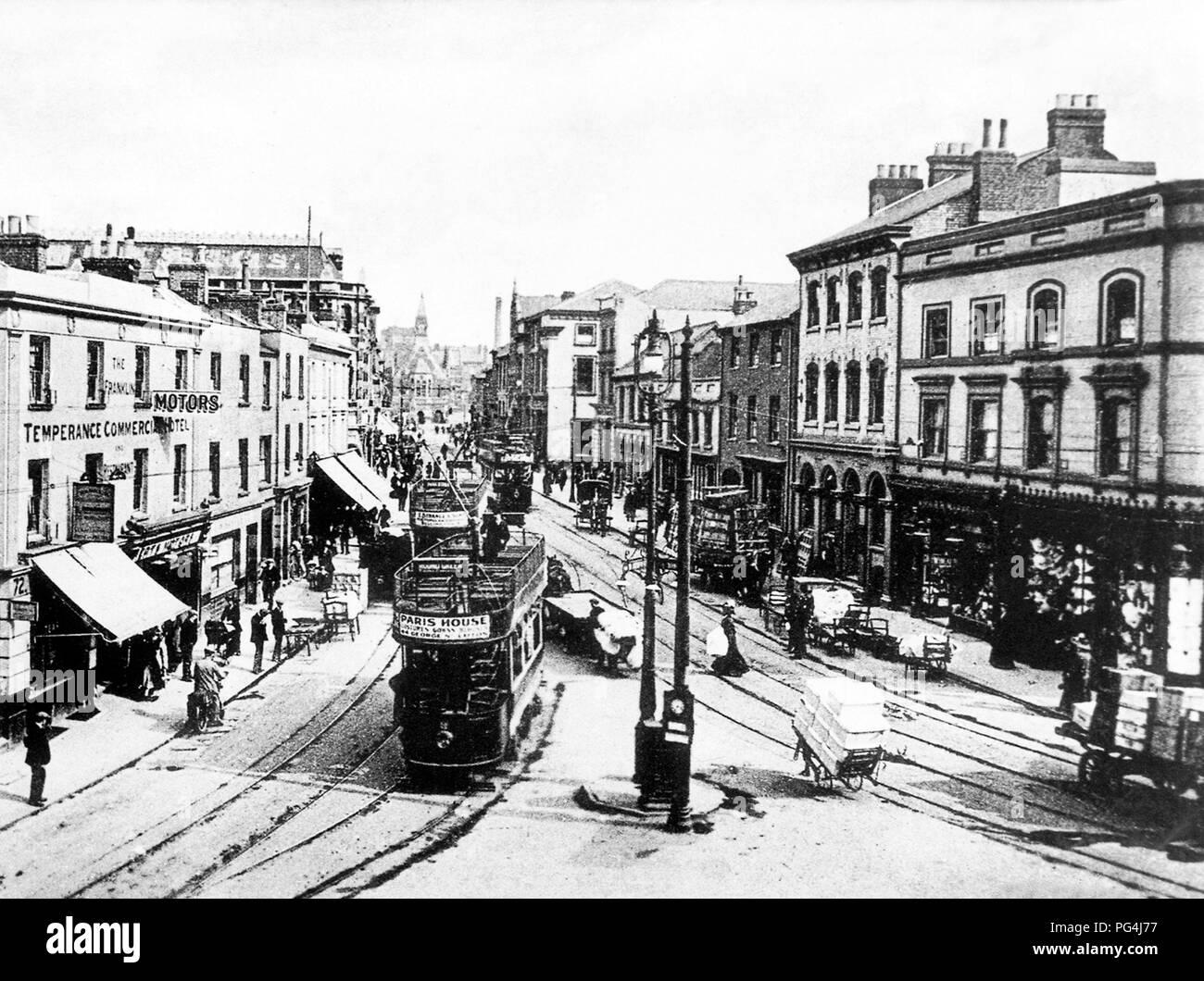 George Street, Luton, agli inizi del novecento Immagini Stock