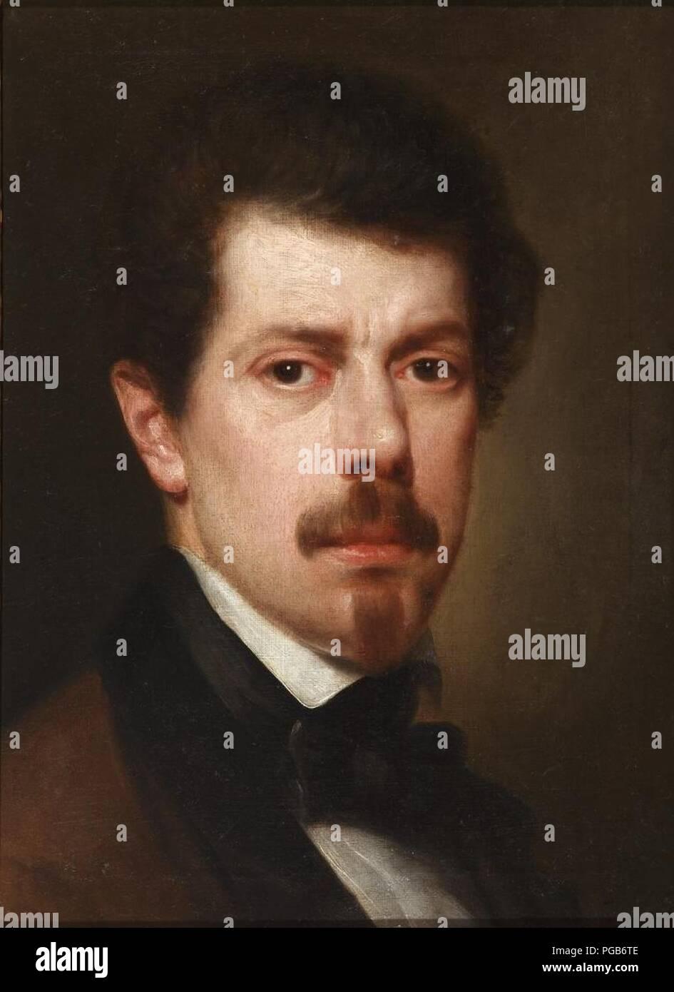 Autorretrato de Antonio María Esquivel (Museo del Romanticismo de Madrid). Immagini Stock
