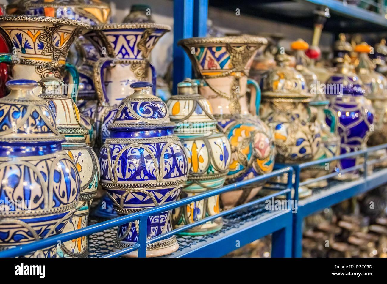 Fes marocco maggio marocchina ceramica artigianato sul