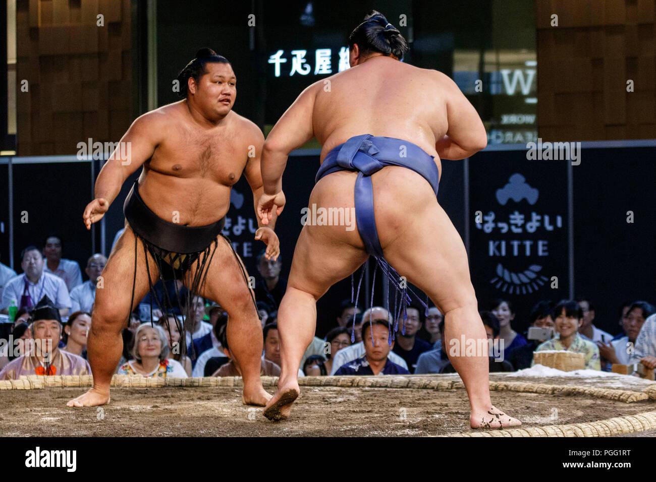 lottatori con grandi