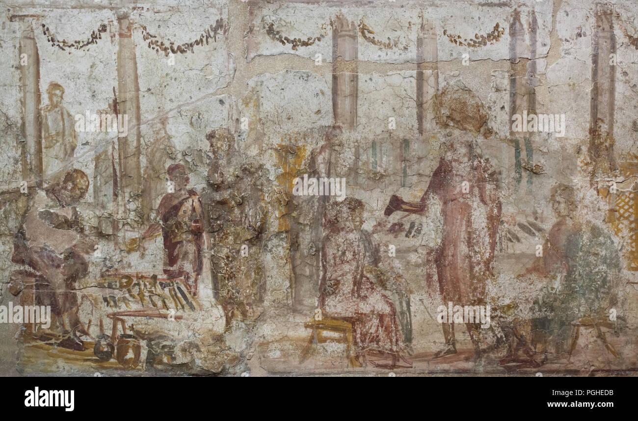 4d3f4dc03dc50 Foro Romano scena raffigurata in affresco Romano dalla casa di Julia Felix  (Praedia di Giulia