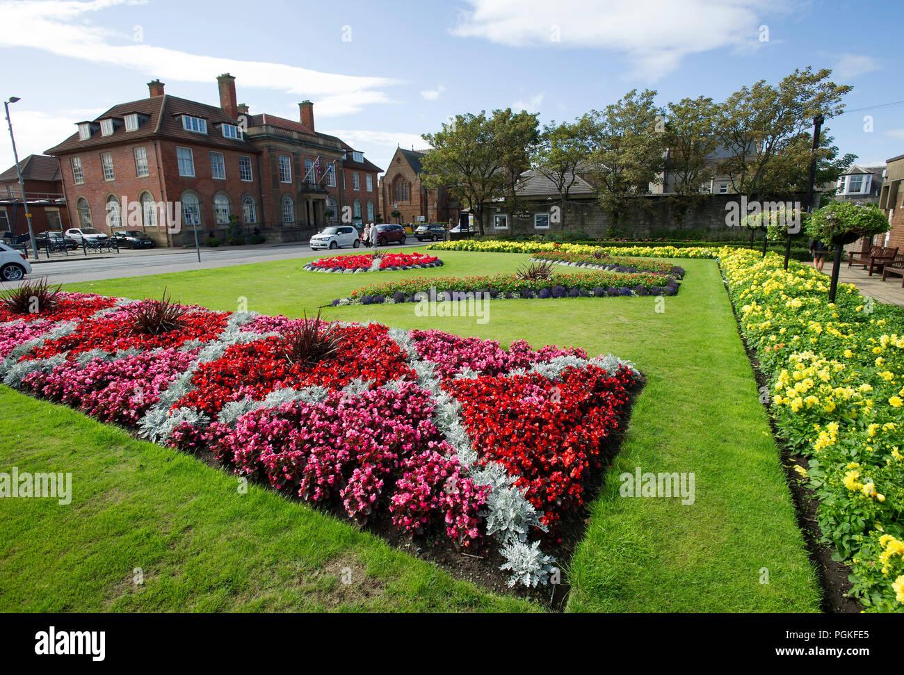 Giardini in fiore south beach troon ayrshire foto & immagine stock
