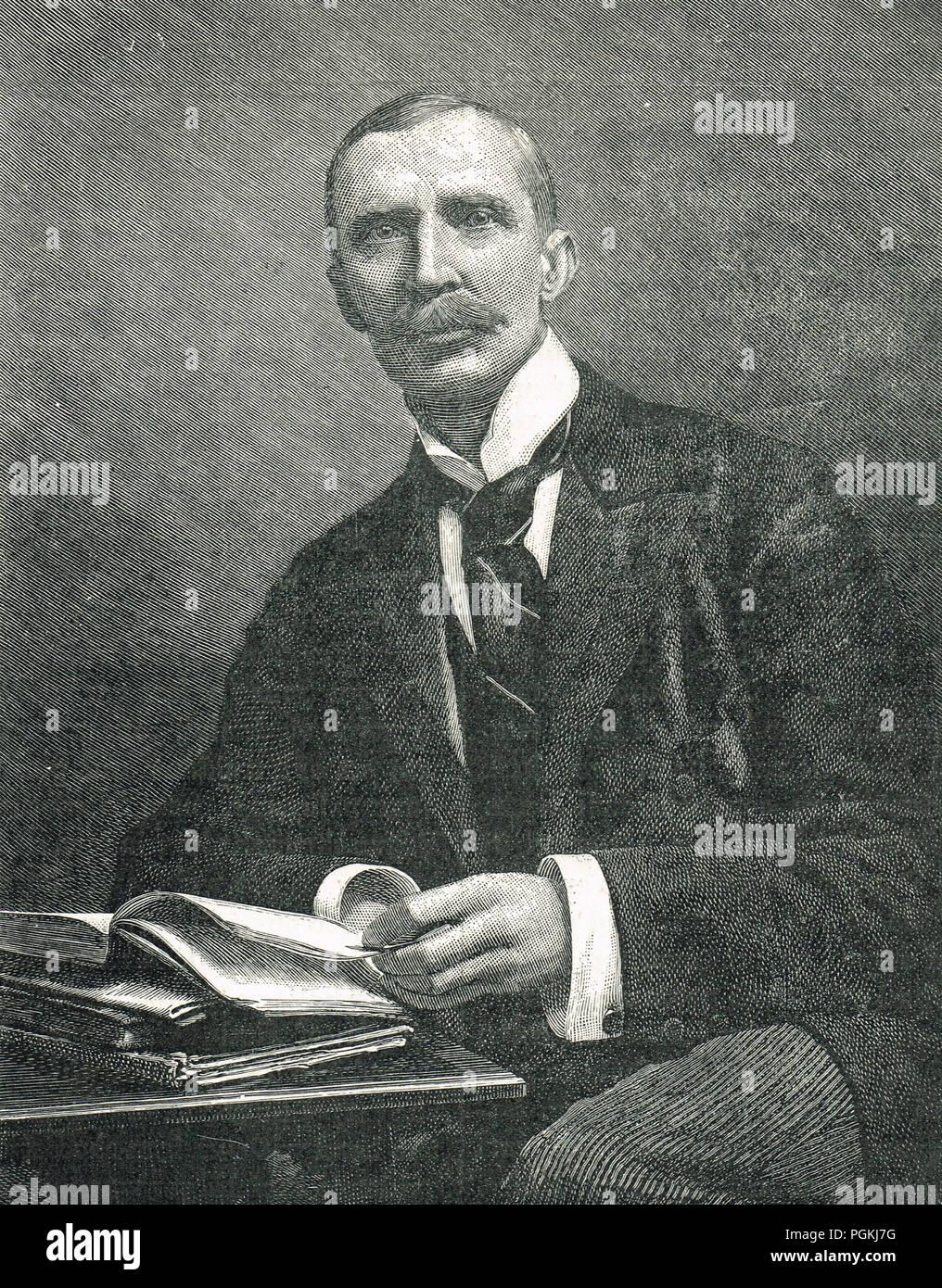 Sir George Dashwood Taubman Goldie, Manx amministratore, ha giocato un ruolo importante nella fondazione della Nigeria Immagini Stock