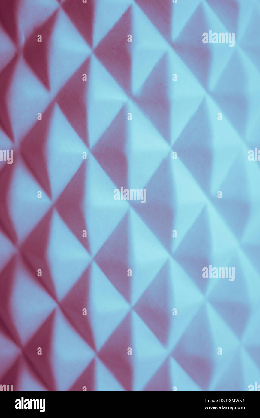 Bianco geometrica astratta sfondo. Foto Stock