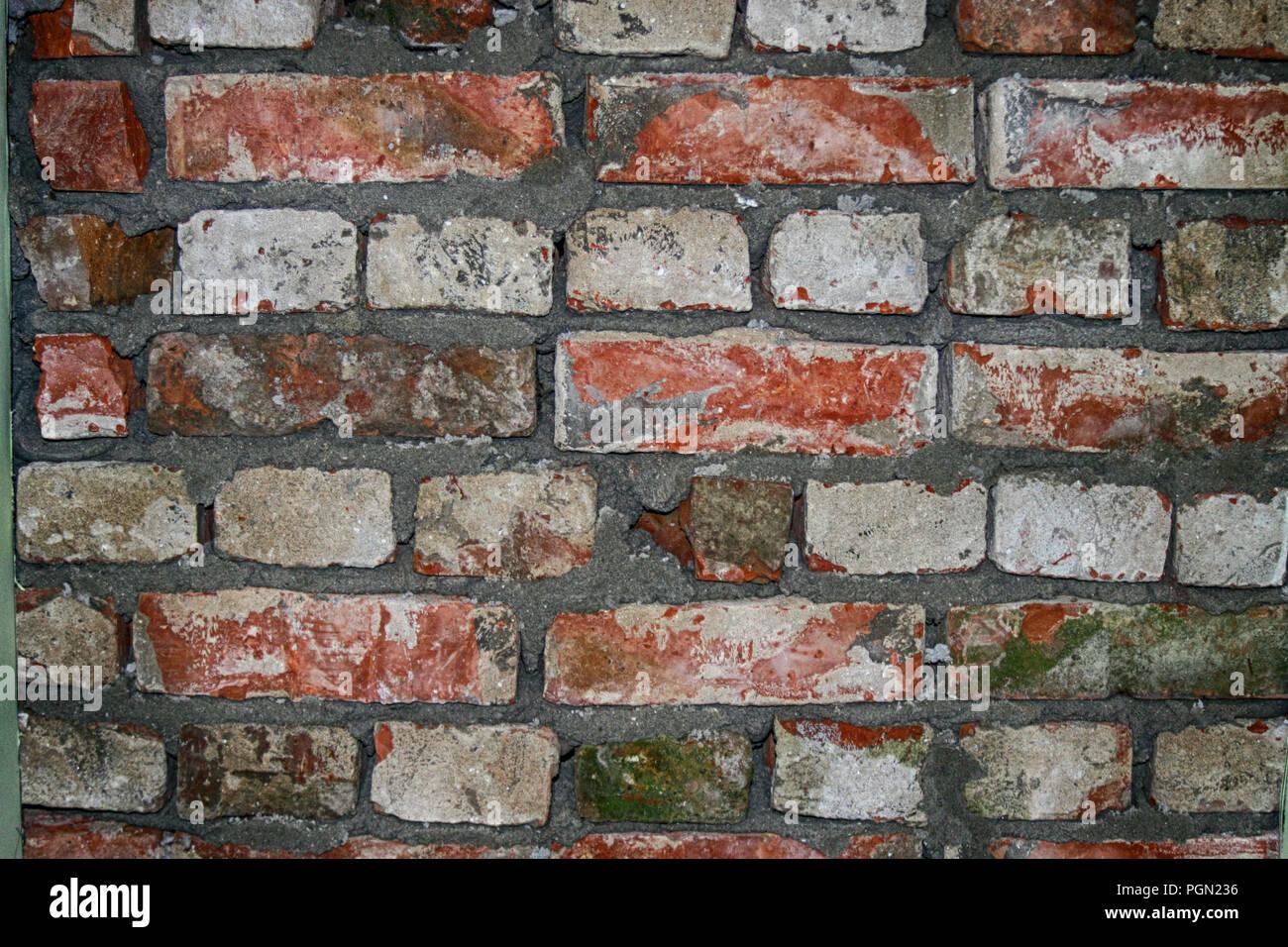Muro di mattoni astratto modello di sfondo Immagini Stock