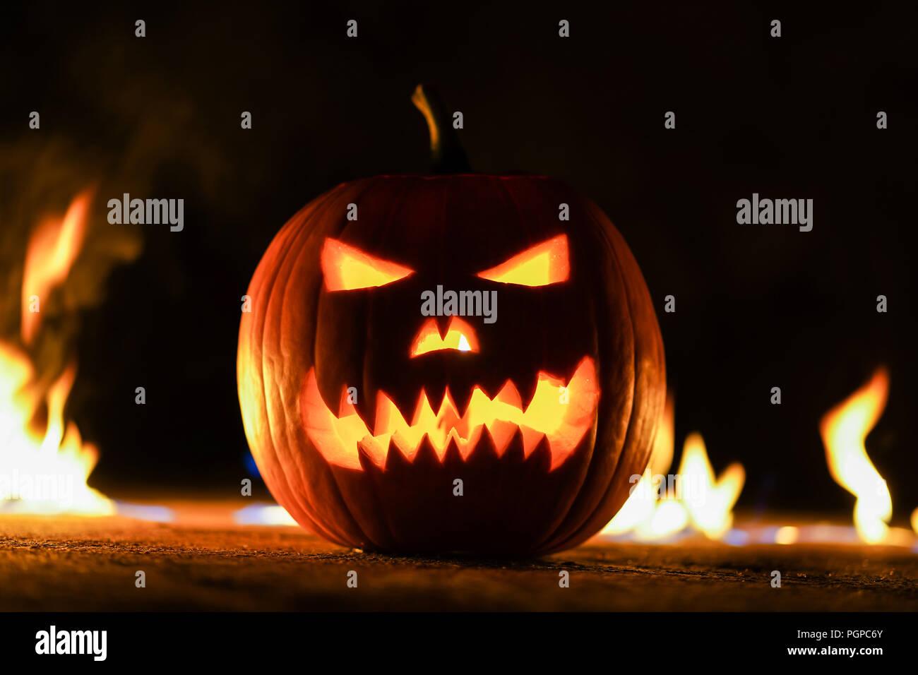 Zucche Di Halloween Terrificanti.Simbolo Terrificante Di Halloween Jack O Lantern Scary Rotto La