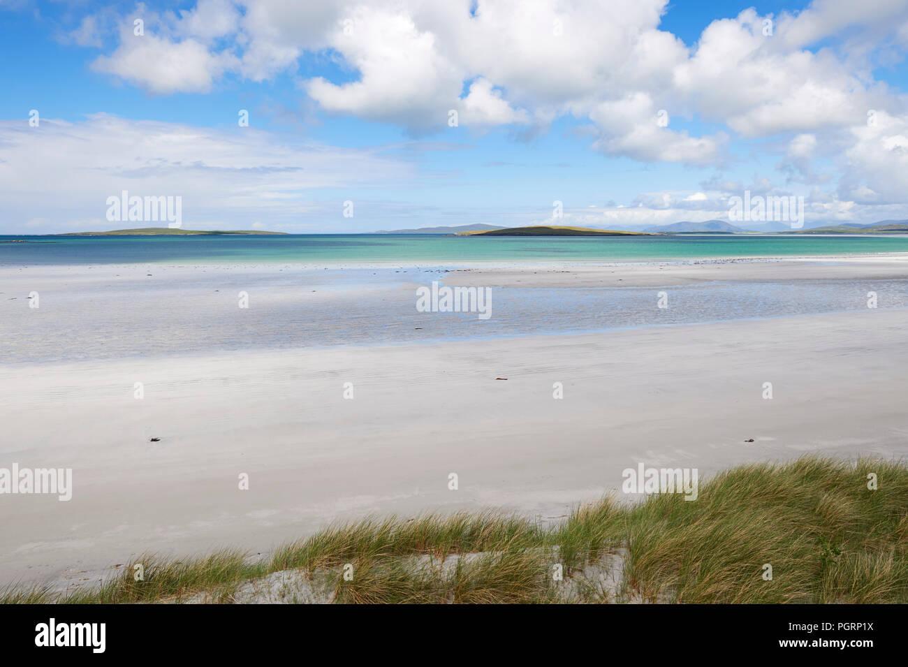 Spiaggia, North Uist, Ebridi Esterne, Scotland, Regno Unito Foto Stock