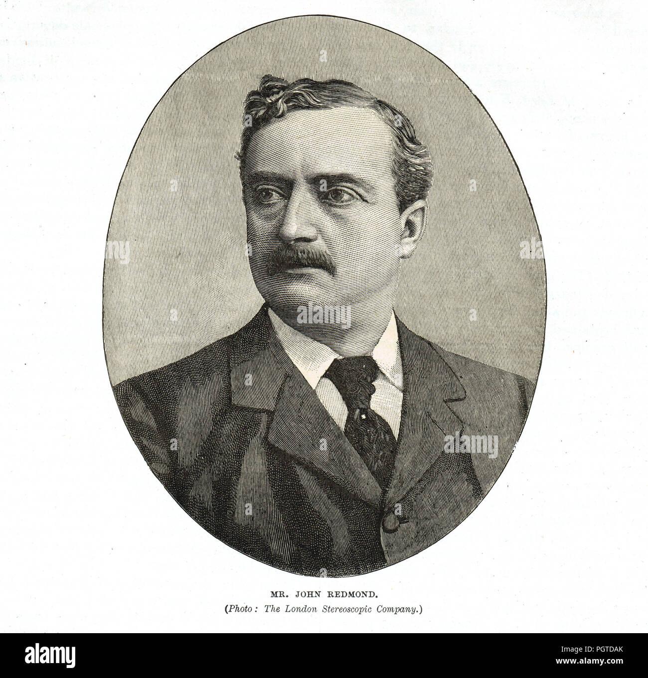 John Redmond, MP, irlandese politico nazionalista, circa 1900 Immagini Stock