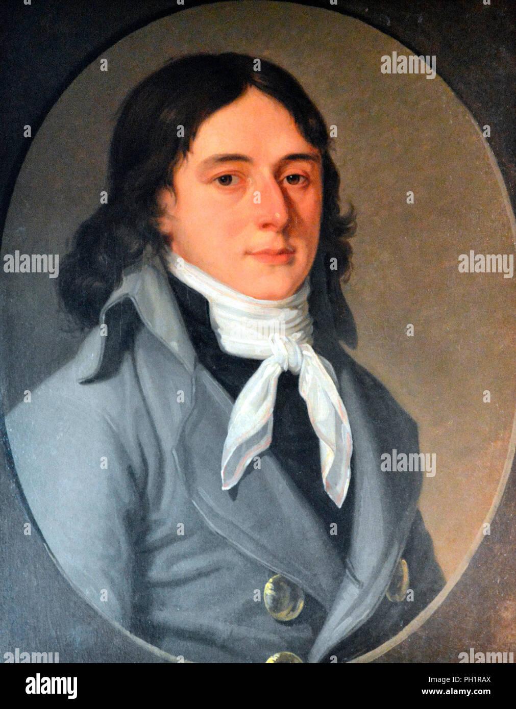 Camille Desmoulins - era un giornalista e un politico che ha giocato un ruolo importante nella Rivoluzione Francese. Immagini Stock