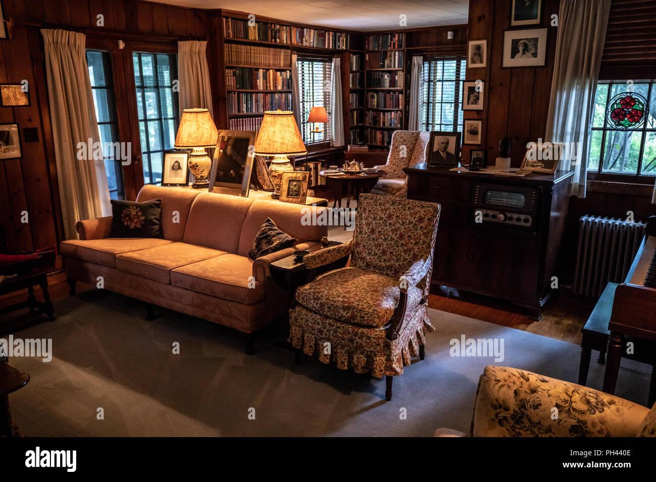 Eleanor del soggiorno, Val-Kill, Eleanor Roosevelt House, Hyde Park ...