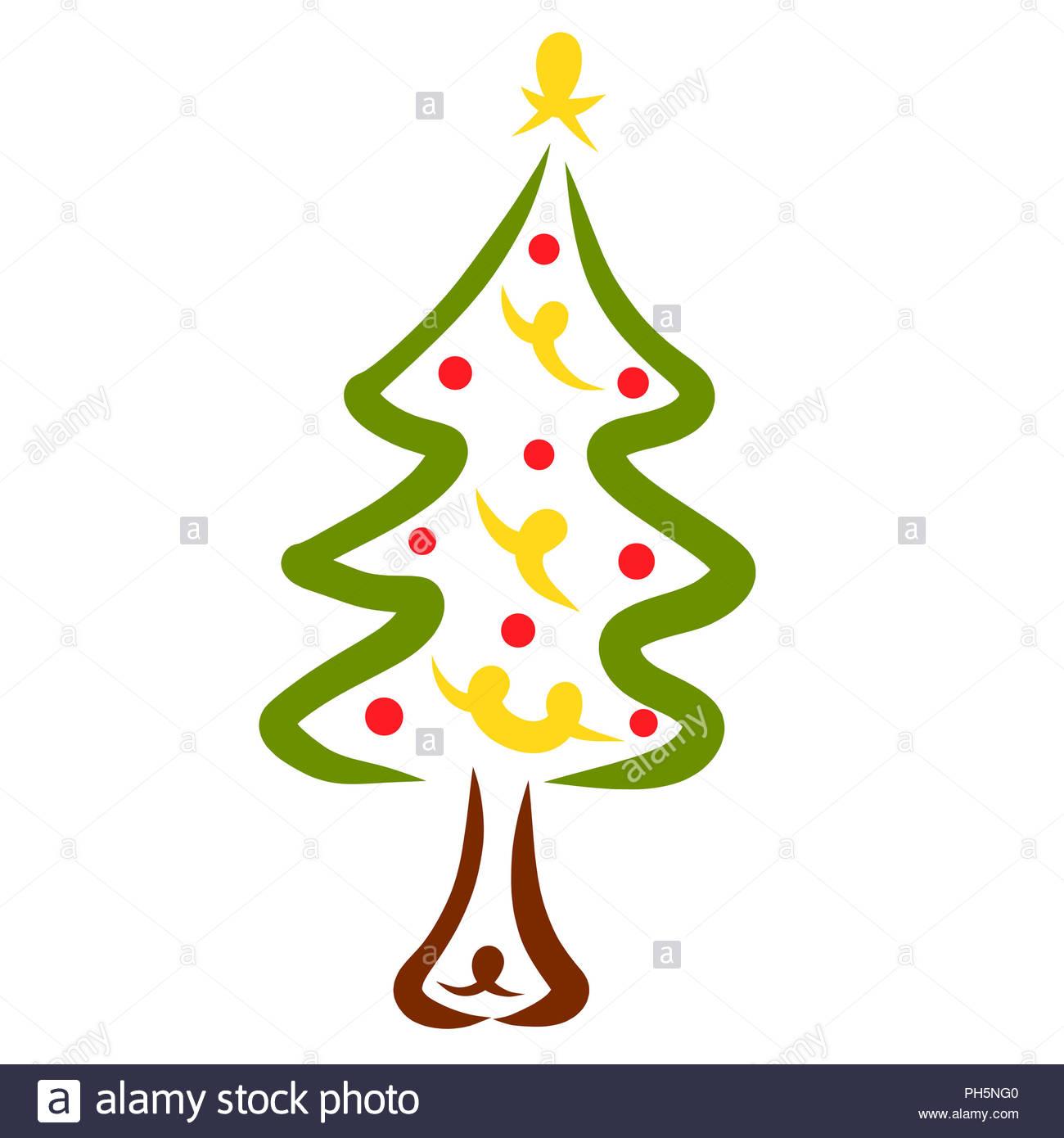 Stella Albero Di Natale Luminosa.Decorazioni Di Natale Luminoso Estratto Albero Con Una Stella Foto