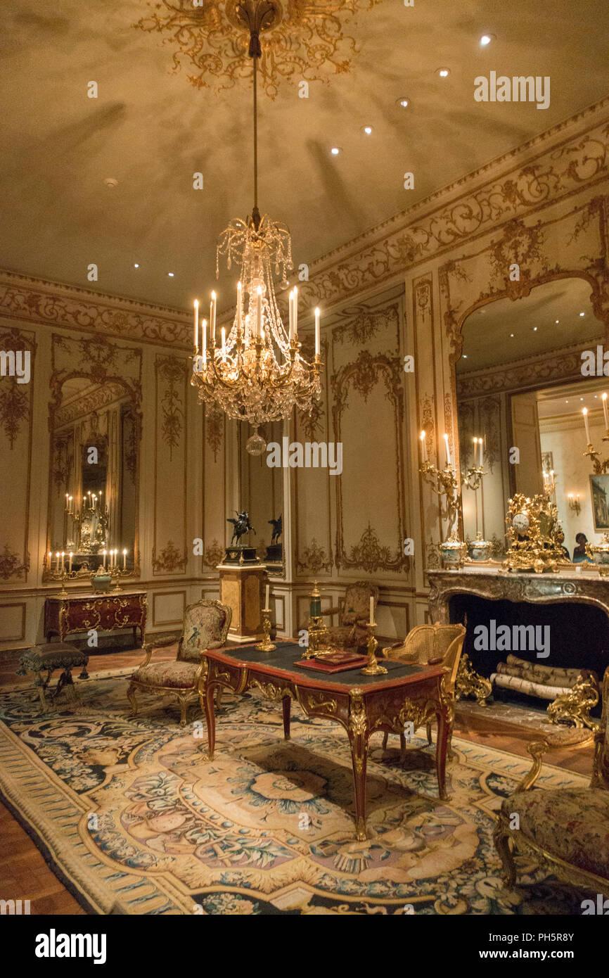 Wrightsman gallerie per francese arti decorative Metropolitan Museum of Art di New York Immagini Stock