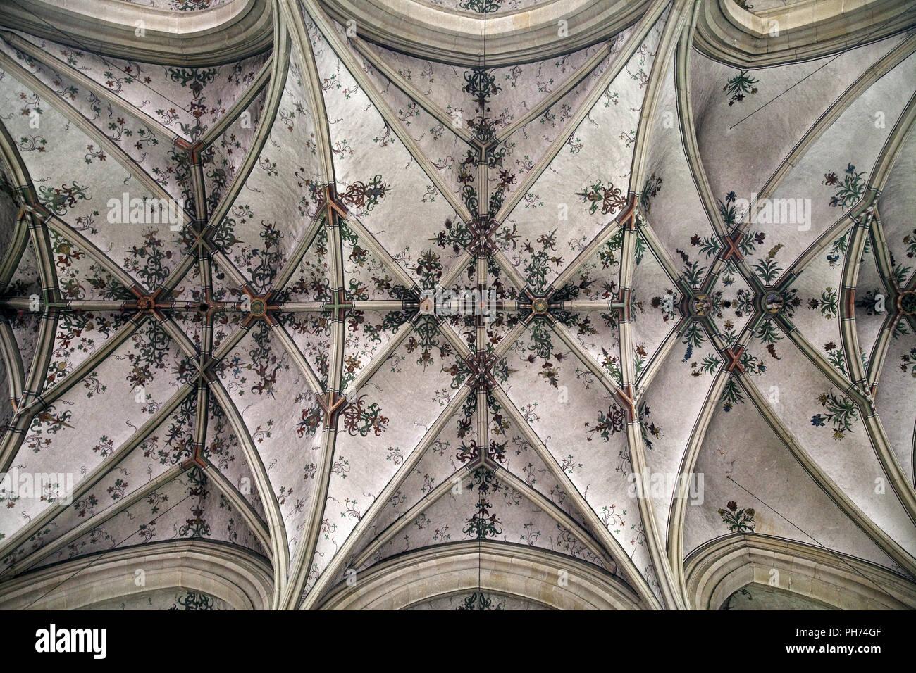 Soffitto, chiesa parrocchiale, Nottuln, Germania Immagini Stock