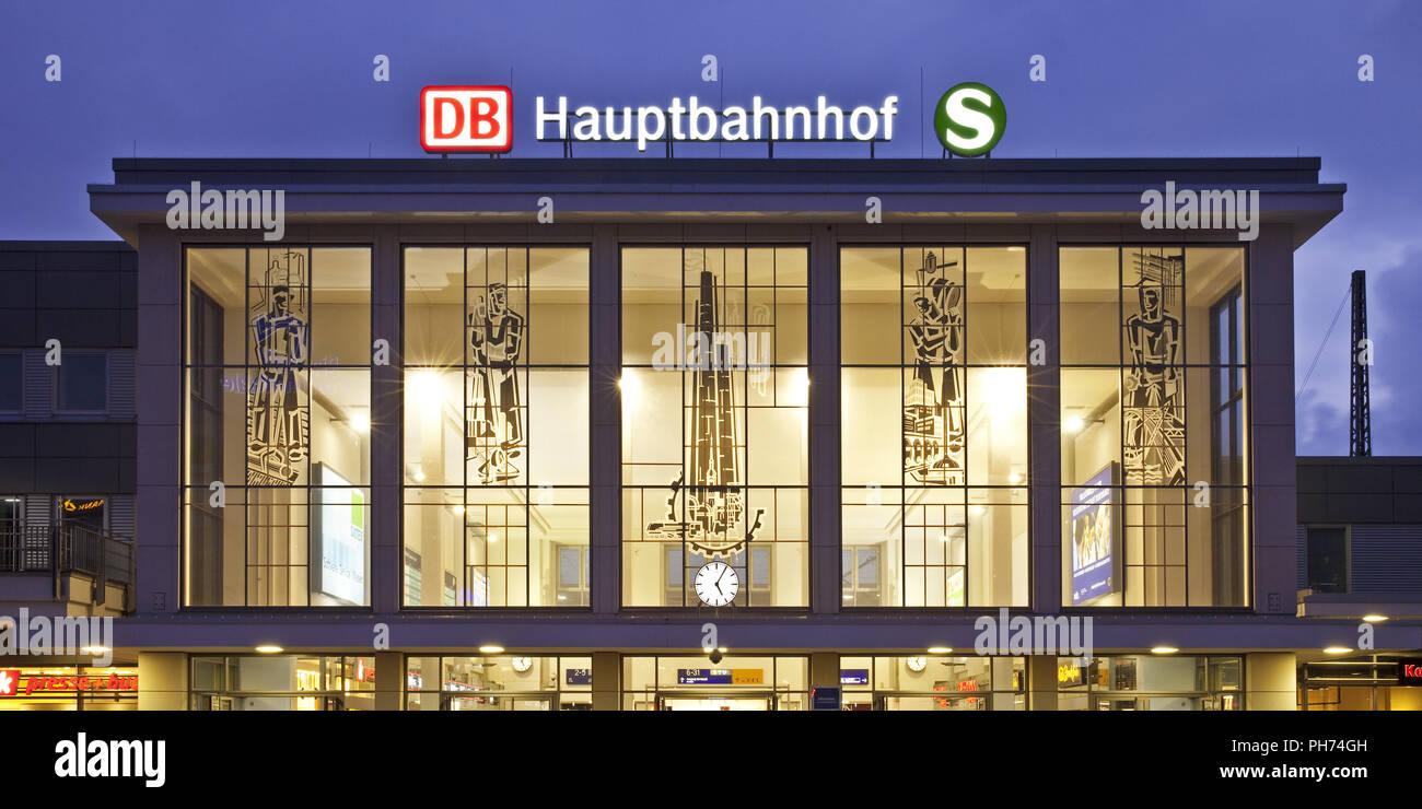 Stazione centrale di Dortmund, Germania Immagini Stock