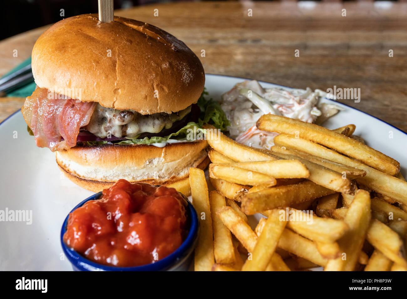 Hamburger al formaggio Foto Stock