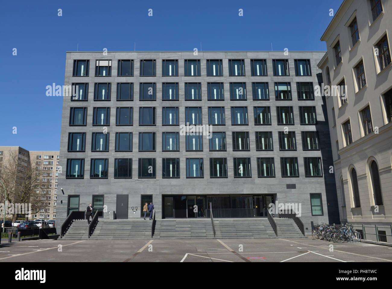Bundesministerium fuer Verkehr und Infrastruktur digitale, Invalidenstrasse, nel quartiere Mitte di Berlino, Deutschland Immagini Stock