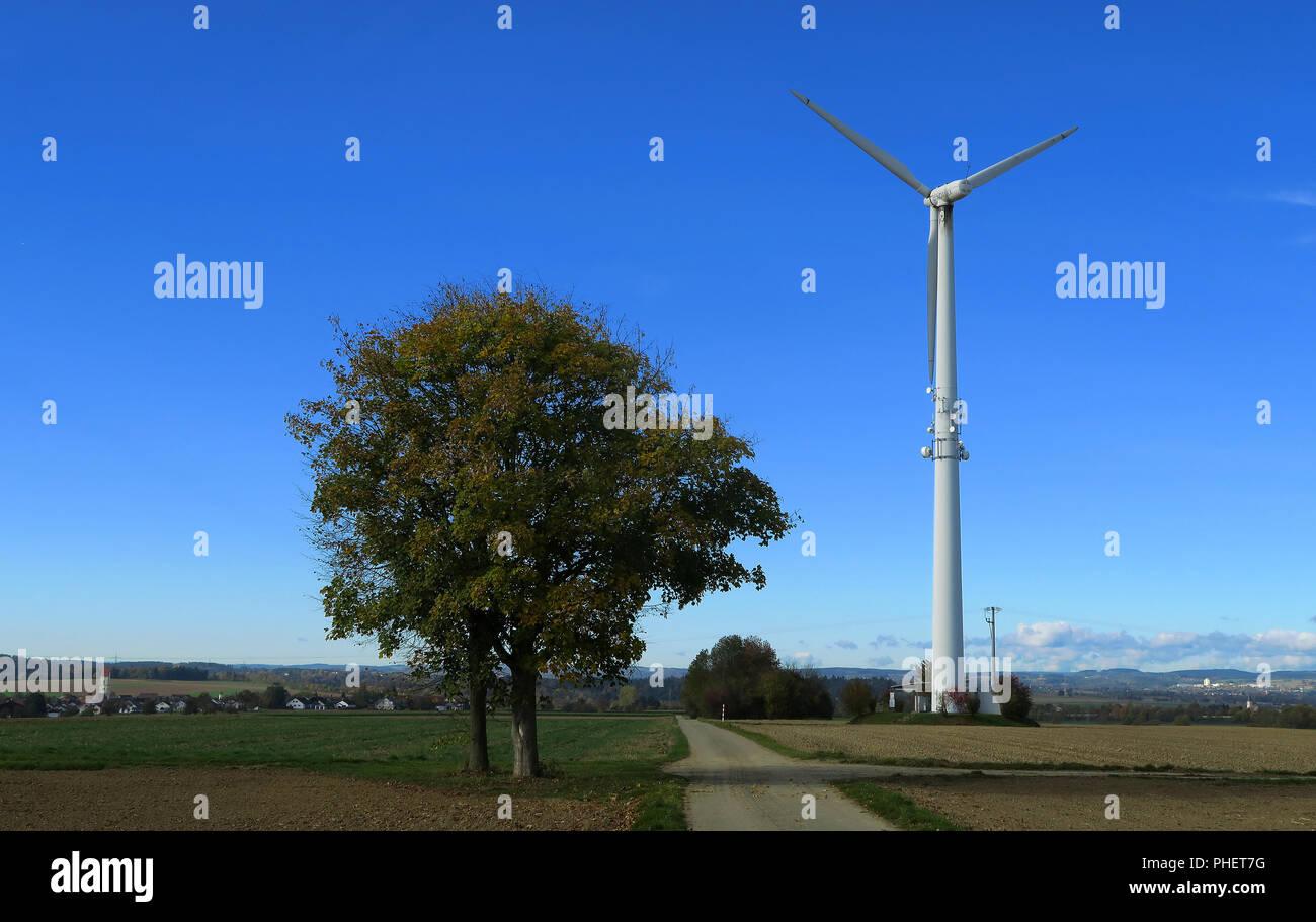 Turbina eolica; la forza del vento; Immagini Stock
