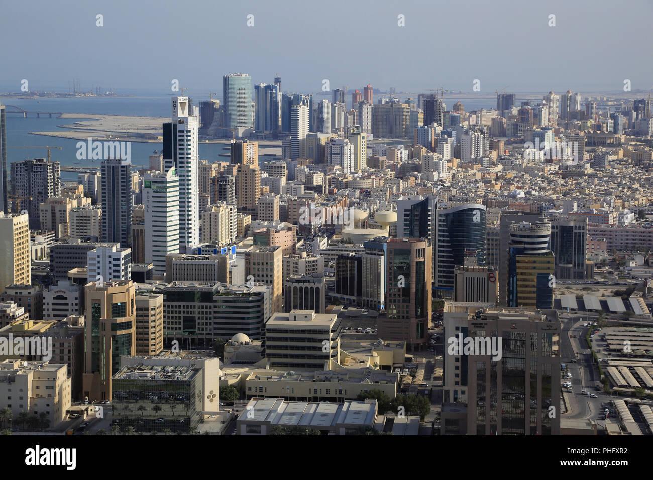 Il quartiere Zona diplomatica in Mamama, Capitale di Bahrain Immagini Stock