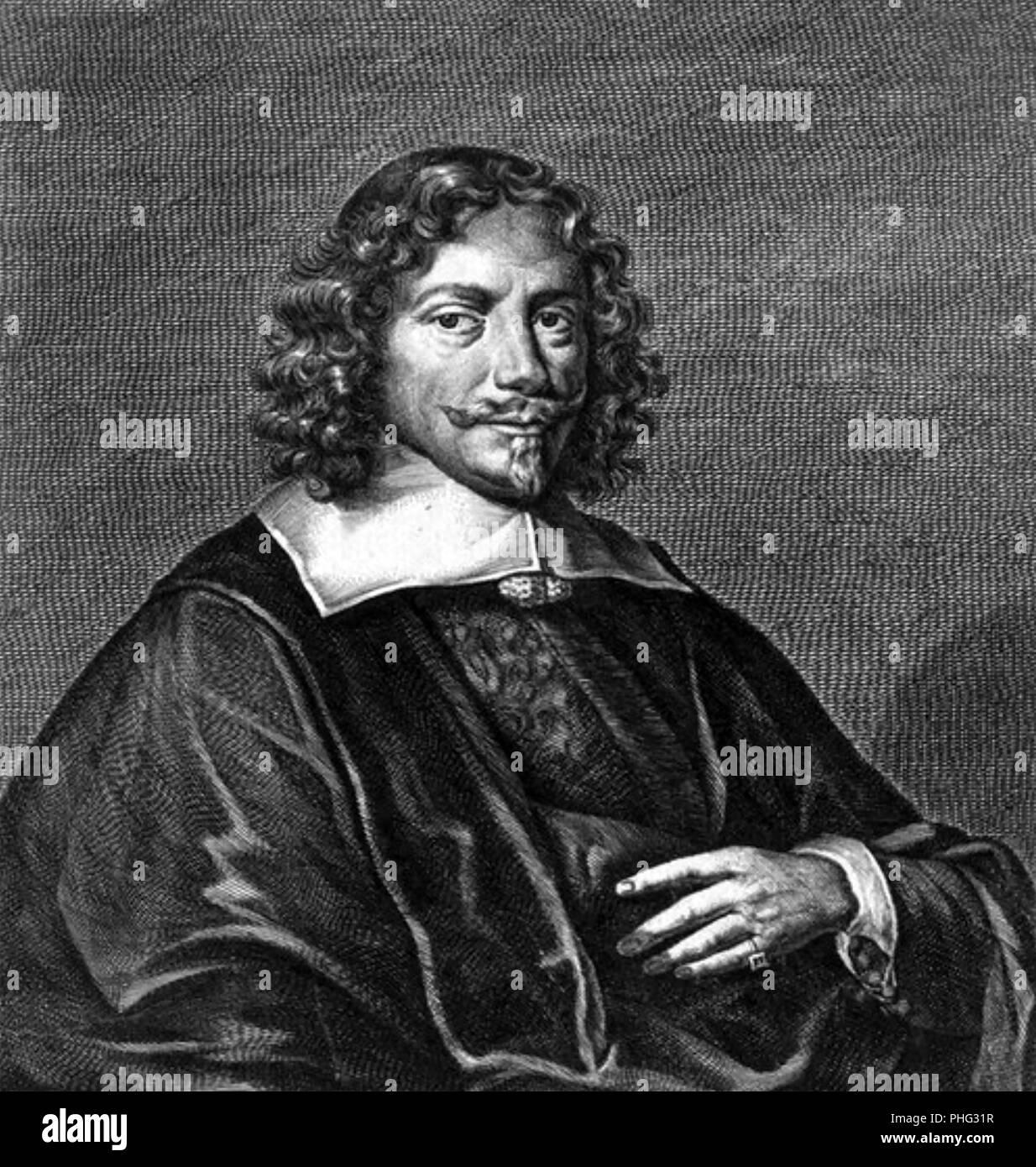 """VINCENT FABRICIUS (1642-1699) Tedesco giurista e """"professore di Morale e di eloquenza' in Amburgo Immagini Stock"""
