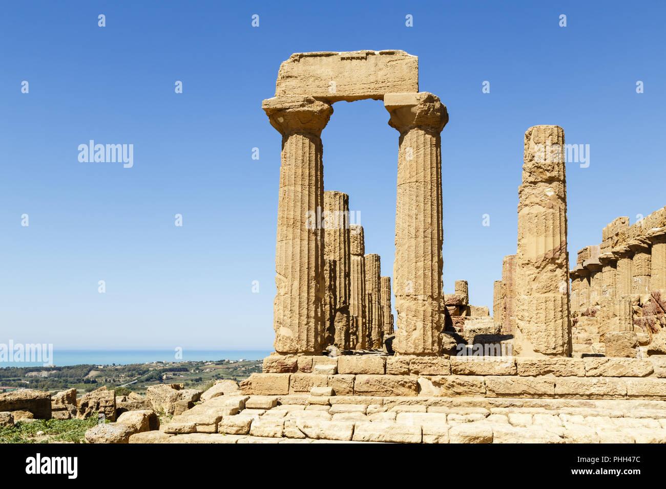 Valle dei Templi, Agrigento, Sicilia, Italia Immagini Stock